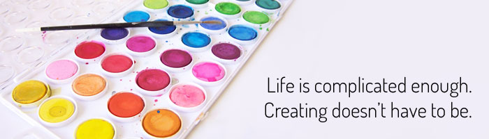Life is complicated enough. Creating doesn't have to be. www.createinthechaos.com