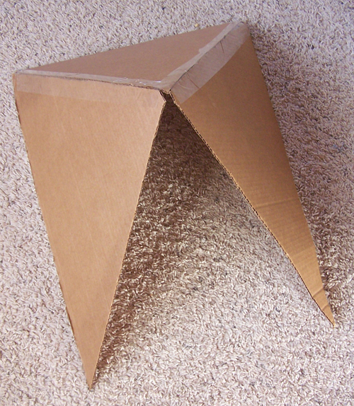 DIY Cardboard Rocket www.createinthechaos.com