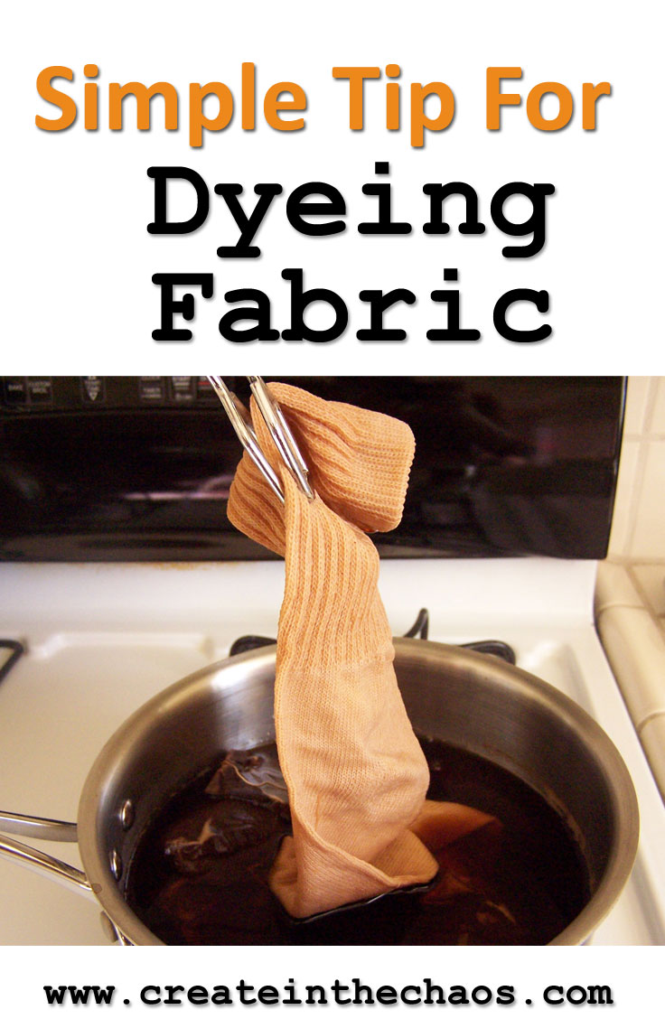 Here's a simple and inexpensive way to dye fabric tan or brown www.createinthechaos.com