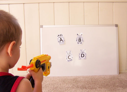 graphic about Nerf Gun Targets Printable known as nerf-gun-alphabet-sport - Deliver inside of the Chaos
