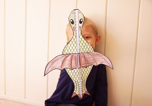 Easy printable kids craft - flying dragon paper airplane www.createinthechaos.com
