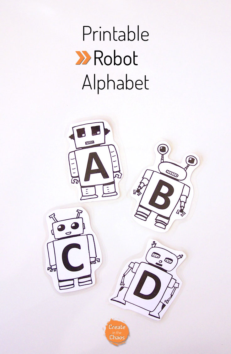 photo regarding Printable Robot titled Printable Robotic Alphabet - Generate within just the Chaos
