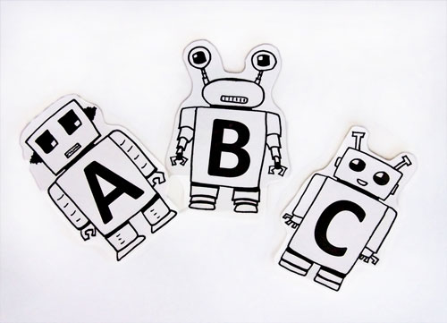 Printable Robot Alphabet