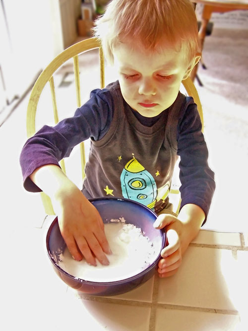 Corn Free Allergen Friendly Oobleck