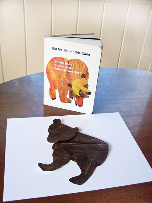 Brown Bear Brown Bear Activity - Printable painting craft www.createinthechaos.com