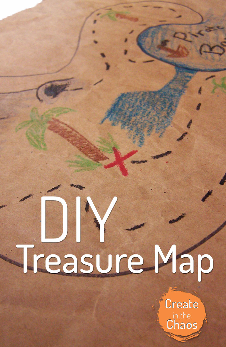 Easy DIY pirate treasure map www.createinthechaos.com