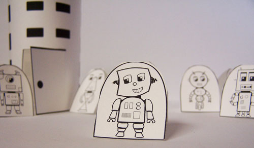 Printable robot craft www.createinthechaos.com