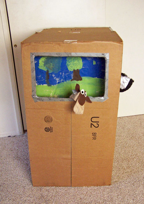 Cardboard Box Puppet Theater Create In The Chaos