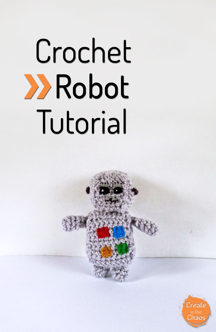 robot Anton Android, PDF Pattern tutorial amigurumi robot crochet | 1128x736