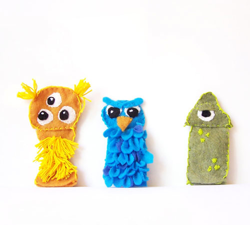Monster Felt Finger Puppets