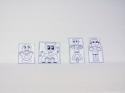 Printable Robot Finger Puppet Craft