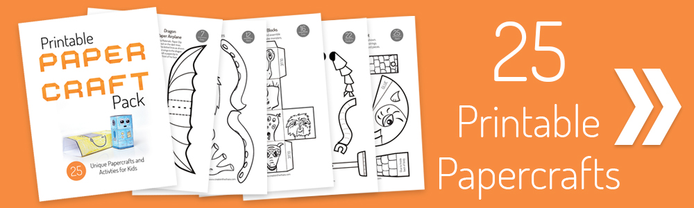 Printable Papercraft Pack - 25 printable crafts for the classroom, library, or home.