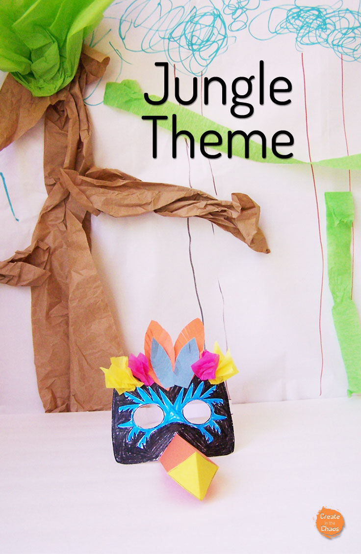 Creating a jungle backdrop plus Creative Galaxy inspired crafts