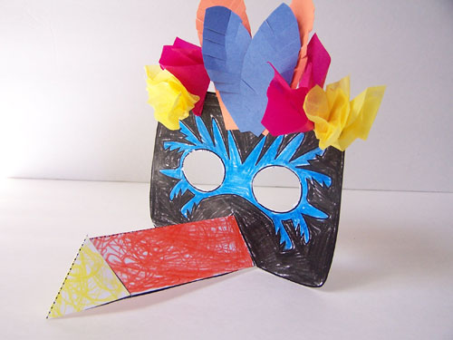 Printable Jungle Masks – Toucan and Monkey