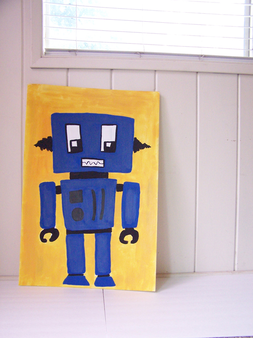Robot Foamboard Painting