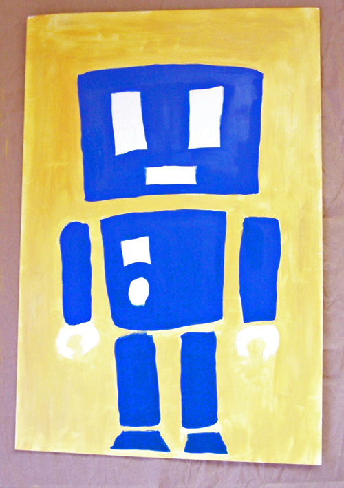 Robot Painting tutorial - perfect decor for a nursery or robot party www.createinthechaos.com
