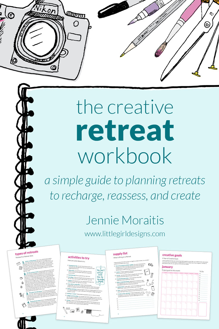 The Creative Retreat Workbook - Encouragement for creatives