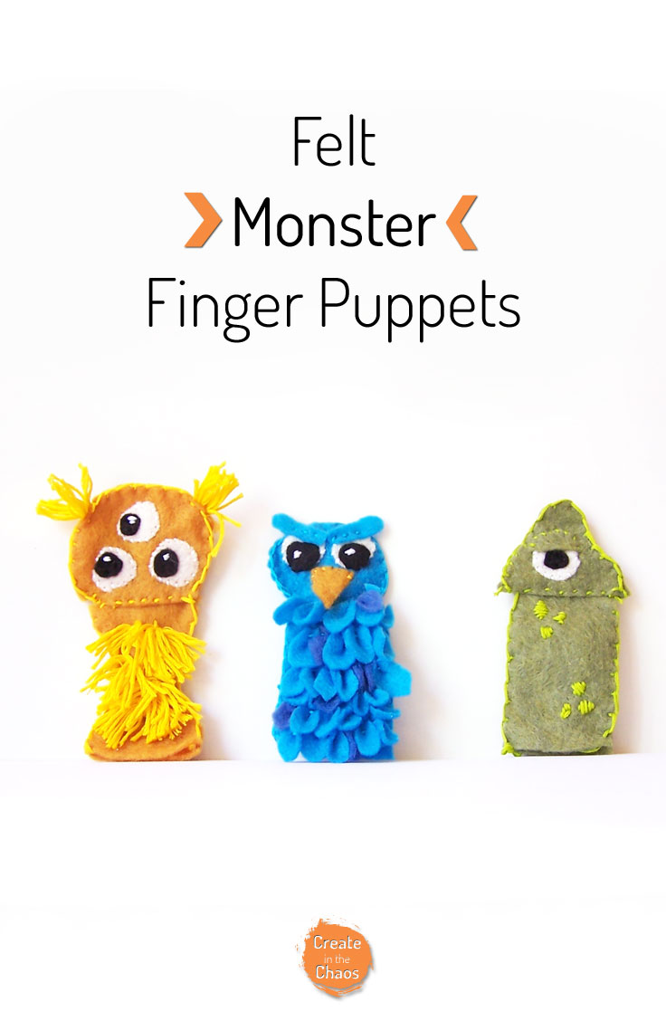 Monster Felt Finger Puppets - Create in the Chaos