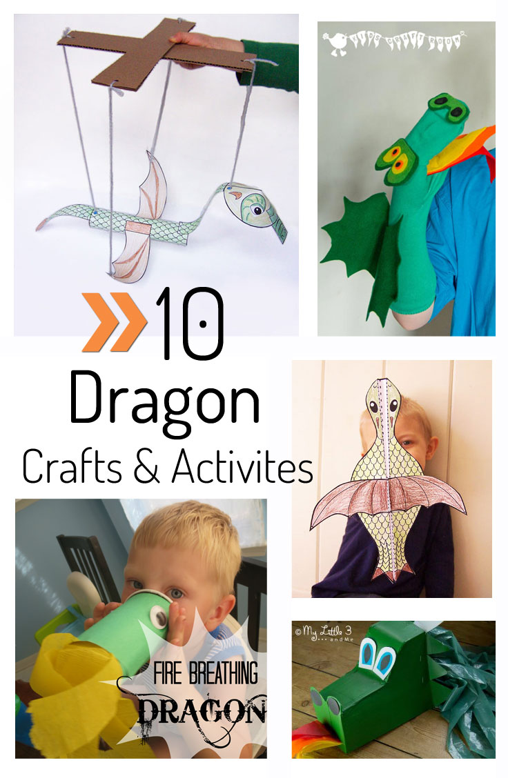 10 awesome dragon crafts and activities for kids www.createinthechaos.com