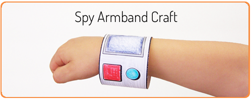 Printable Spy Armband Craft