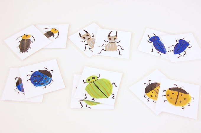 Simple Bug Memory Matching Game
