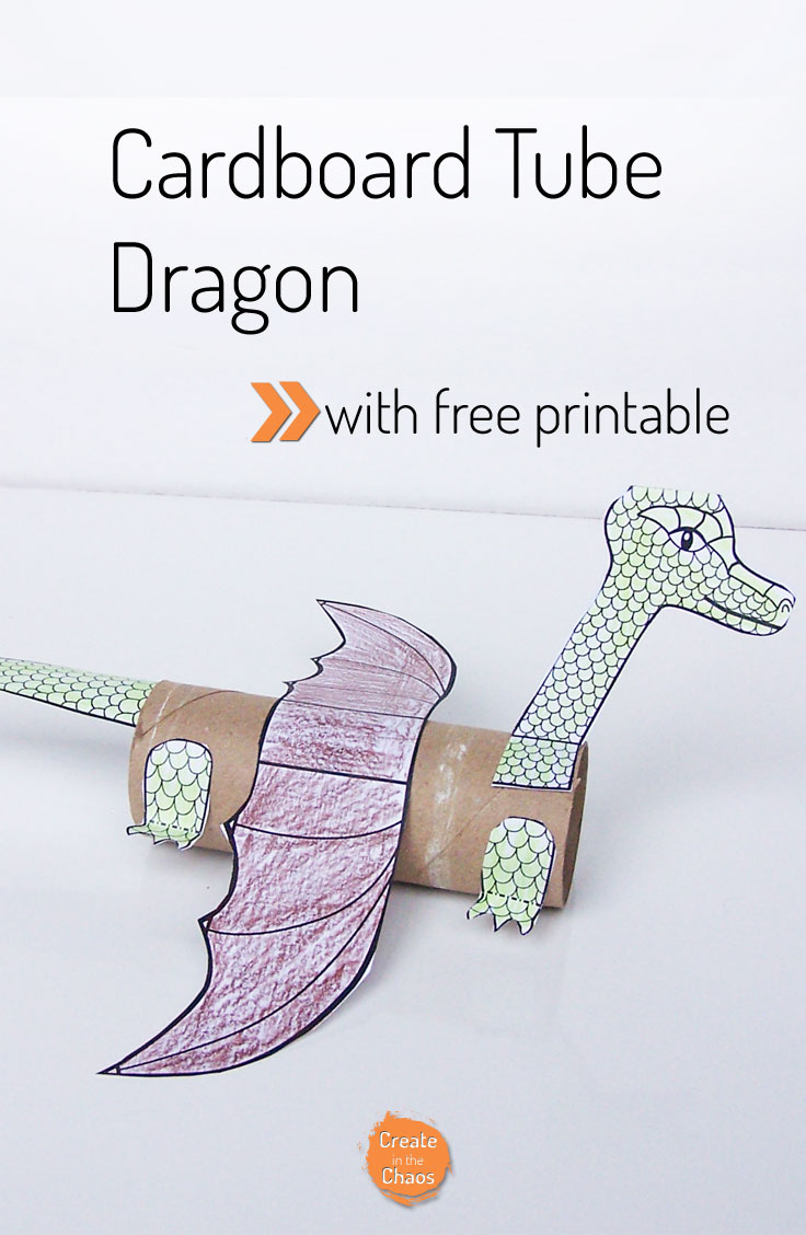 Cardboard Tube Dragon Create In The Chaos