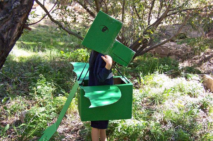 Cardboard Dragon Costume