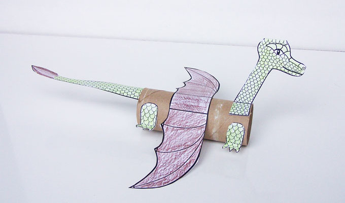 Cardboard Tube Dragon
