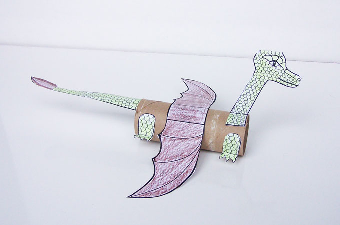 Cardboard Tube Dragon
