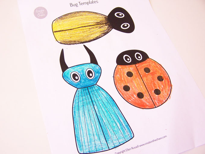 Simple Printable Bug Craft Using A Free Template And Pipe Cleaners Easy Kids Activity