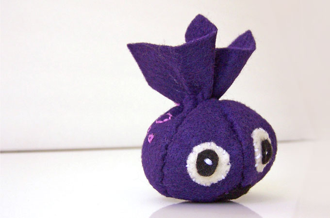 Mini Stuffed Felt Monster
