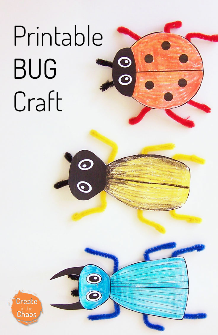 Printable Bug Craft Create In The Chaos