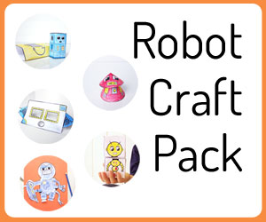 Printable robot craft pack - fun robot activities and crafts for kids
