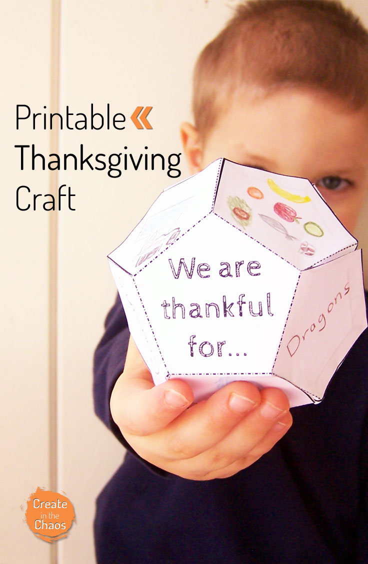 picture relating to Printable Thanksgiving Craft named Thanksgiving Printable - Deliver in just the Chaos