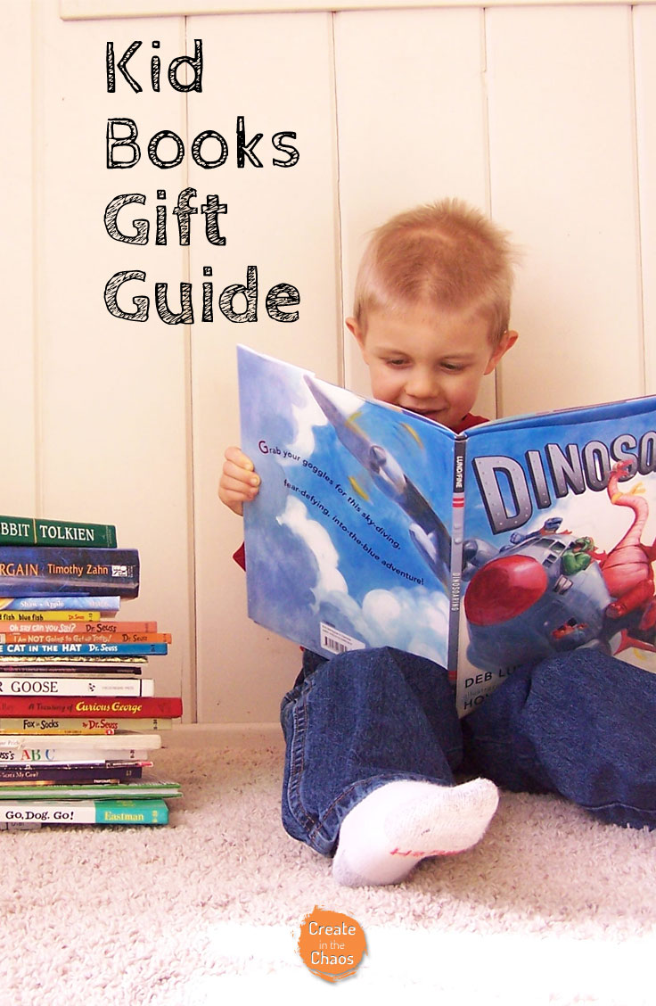 Best kids books to give as gifts - perfect for Christmas or birthdays. Lots of great kid book ideas, especially for boys www.createinthechaos.com