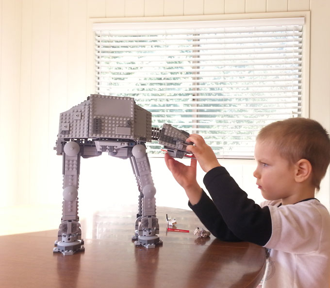 Creative non-toy gifts for kids Lego AT-AT www.createinthechaos.com