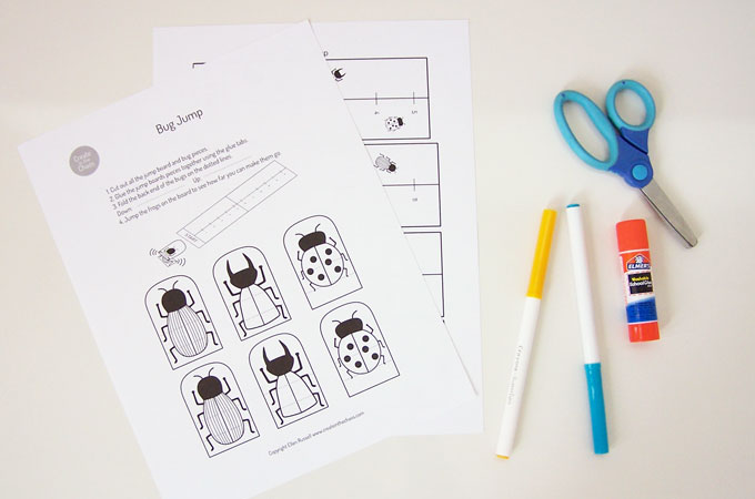 Printable Bug Jump Game