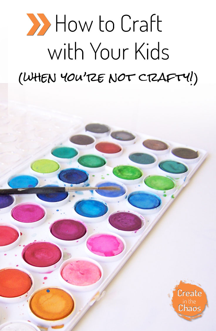 How to do crafts with kids (even if you aren't crafty ). Some tips and tricks for easy crafting with kiddos! www.createinthechaos.com