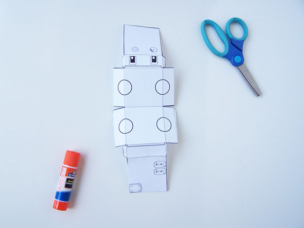 photo relating to Printable Kid Crafts identify Printable Switching Robotic Craft - Deliver within just the Chaos