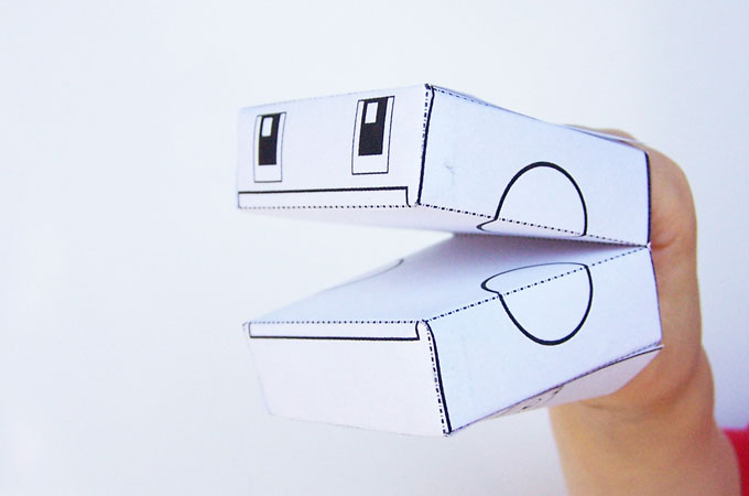 Printable Transforming Robot Craft