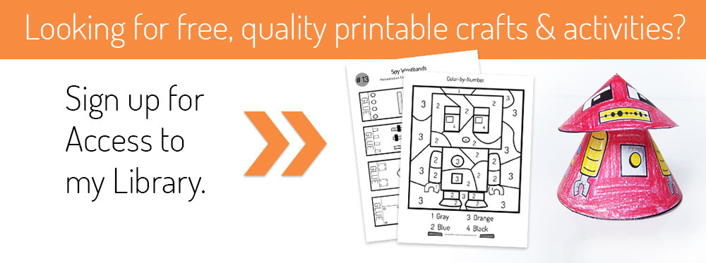 Free library of printable papercrafts and activities from Create in the Chaos