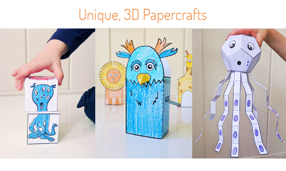 Unique 3D papercrafts for the home or classroom