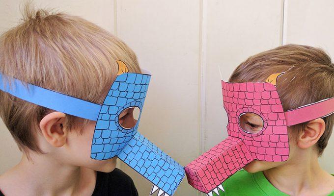 Printable Dragon Mask for Kids