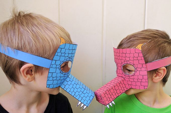 Printable Dragon Mask for Kids