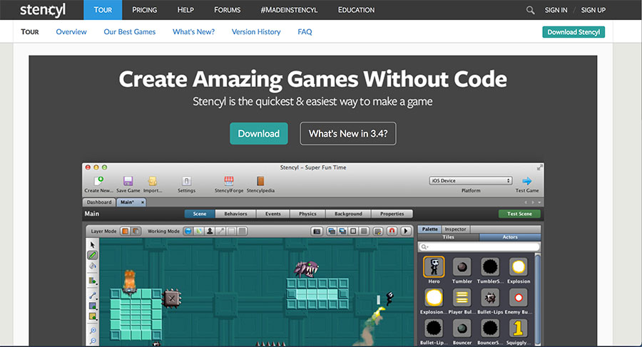 Get your kiddo interested in coding with the amazing game builder Stencyl