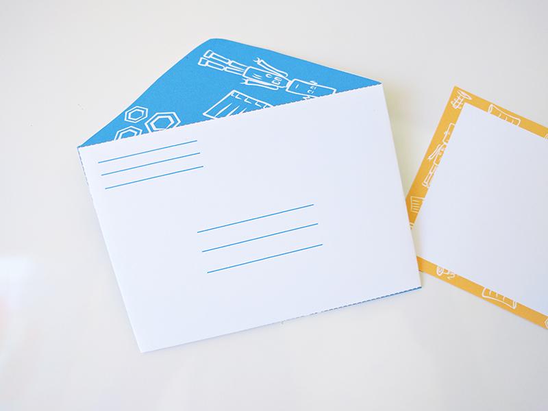 Printable snail mail kits for kids