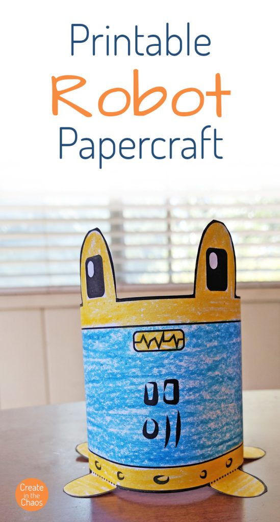 Super quick and easy robot papercraft for kids - Create in the Chaos