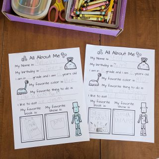Printable school survey for kindergarten