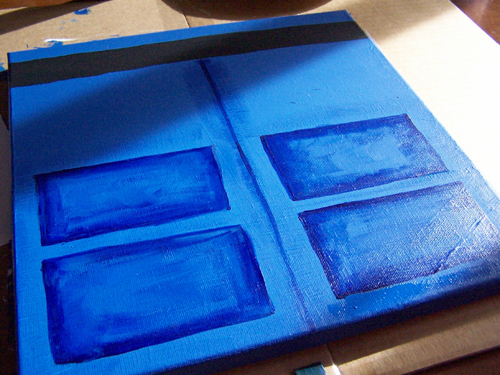 DIY TARDIS Canvas Painting Tutorial - Doctor Who! www.createinthechaos.com