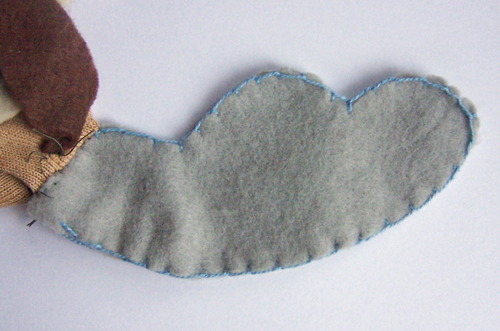 How to make a cute moose sock puppet www.createinthechaos.com